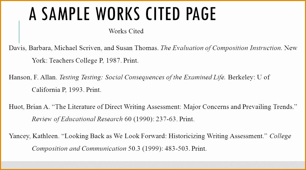 Examples Of Work Cited Pages Beautiful 6 Sample Works Cited Page Mla Besttemplates Besttemplates