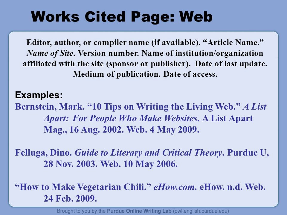 Examples Of Work Cited Pages Fresh Mla 7th Edition formatting and Style Guide Ppt