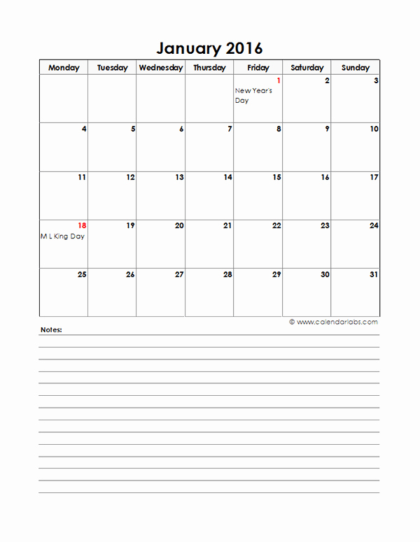 Excel 2016 Calendar with Holidays Awesome 2016 Excel Monthly Calendar 05 Free Printable Templates