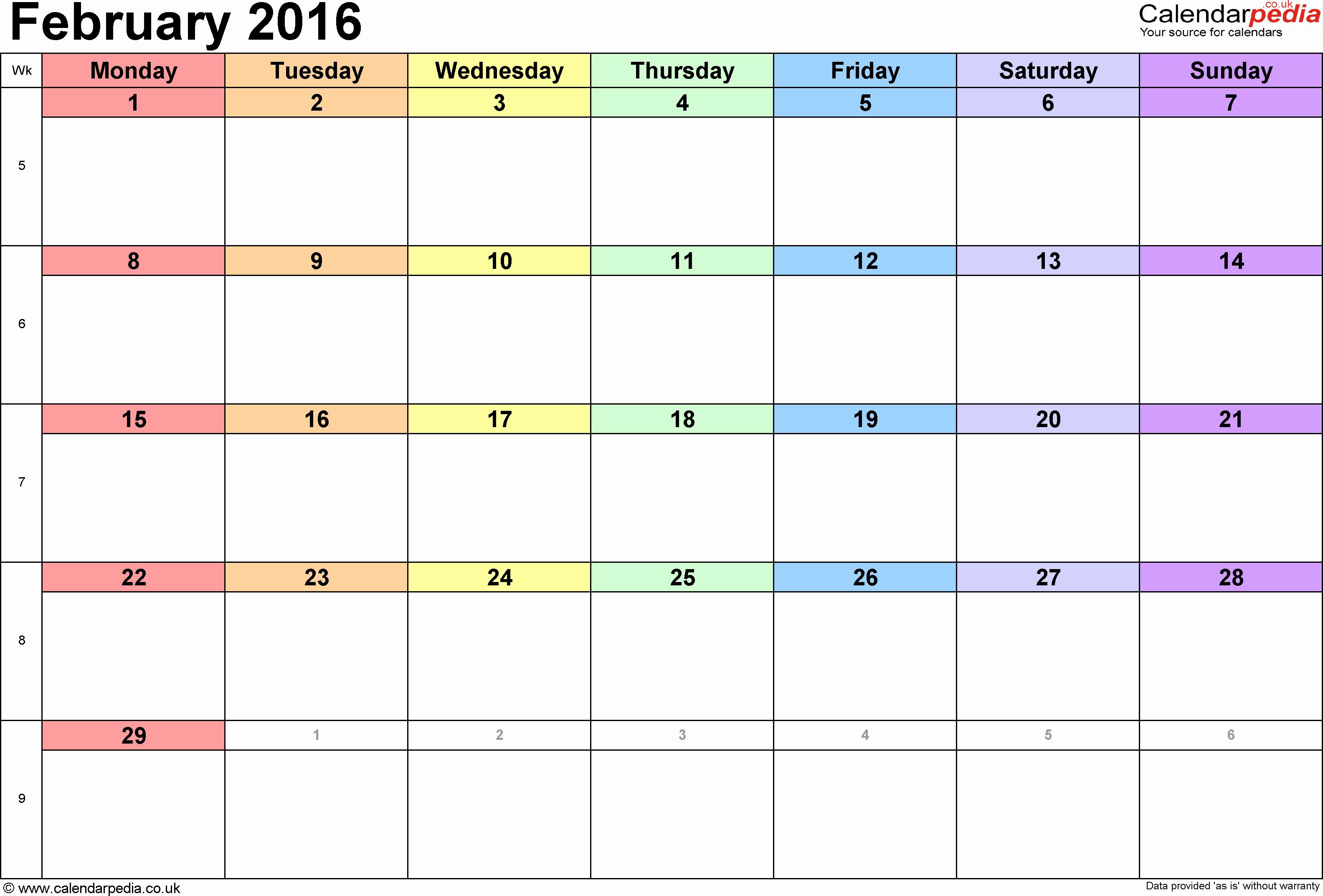 Excel 2016 Calendar with Holidays Beautiful Calendar February 2016 Uk Bank Holidays Excel Pdf Word