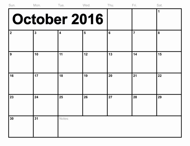 Excel 2016 Calendar with Holidays Fresh October 2016 Calendar Printable Template Pdf Word Excel