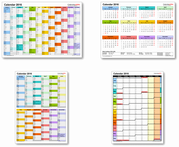Excel 2016 Calendar with Holidays New Calendar 2016 Uk with Bank Holidays & Excel Pdf Word Templates