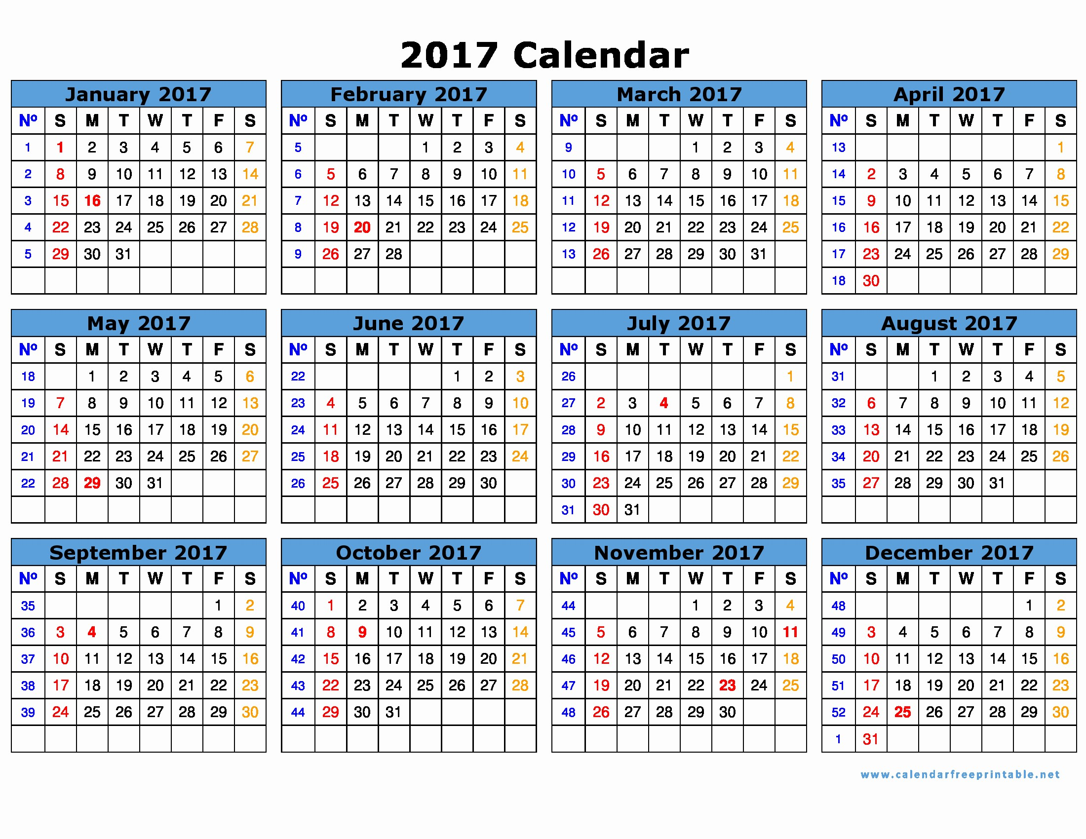 Excel 2017 Calendar with Holidays Best Of Free 2017 Calendar with Holidays