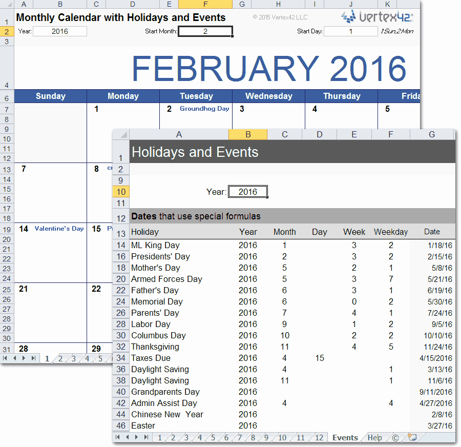 Excel Calendar 2017 with Holidays Inspirational Printable Calendar with Holidays