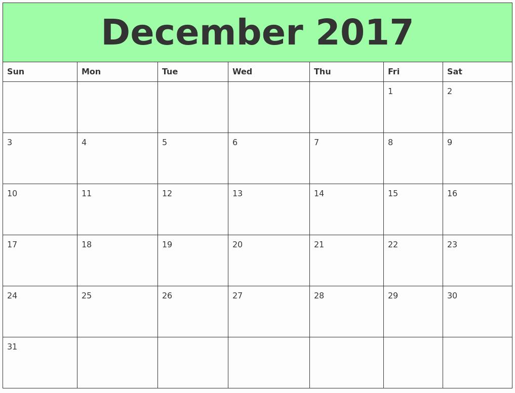 Excel Calendar 2017 with Holidays Lovely December 2017 Printable Calendar Template Holidays Excel