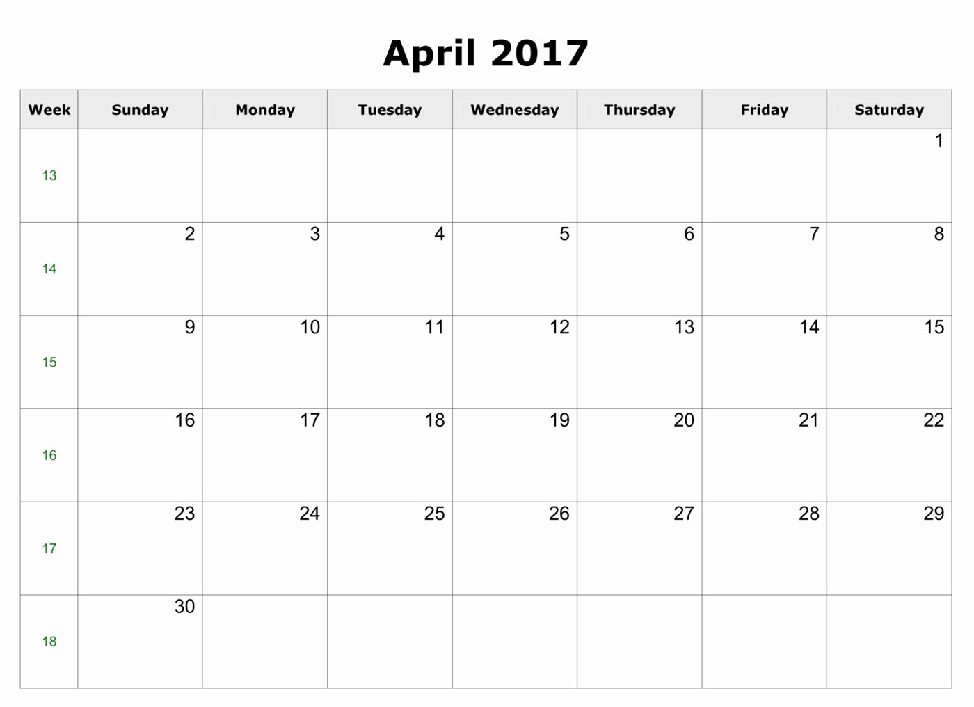 Excel Calendar 2017 with Holidays Luxury April 2017 Excel Calendar April2017 Excelcalendar