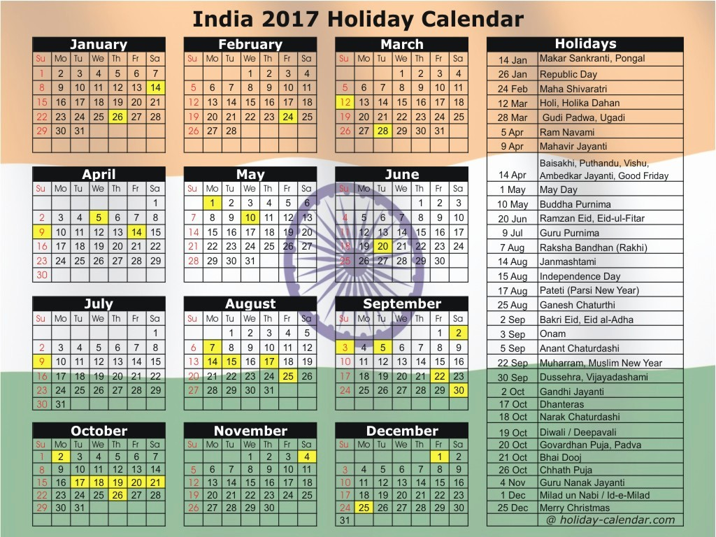 Excel Calendar 2017 with Holidays Luxury Calendar 2017 with Holidays India Pdf