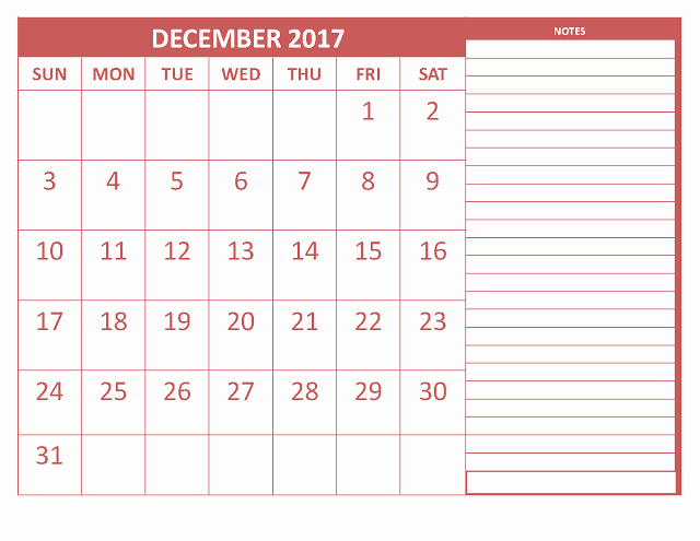 Excel Calendar 2017 with Holidays New December 2017 Printable Calendar Template Holidays Excel