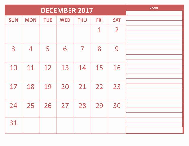 Excel Calendar 2017 with Holidays New December 2017 Printable Calendar Template Holidays Excel