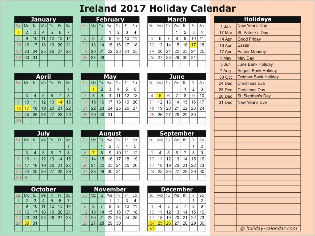 Excel Calendar 2017 with Holidays Unique December 2017 Bank Holiday
