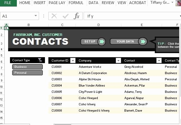 Excel Contact List Template Free Inspirational Customer Contact List Template for Excel