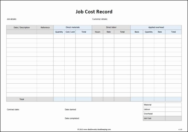 Excel Costing Template Free Download Best Of Job Cost Sheet Template Excel Free Download Aashe