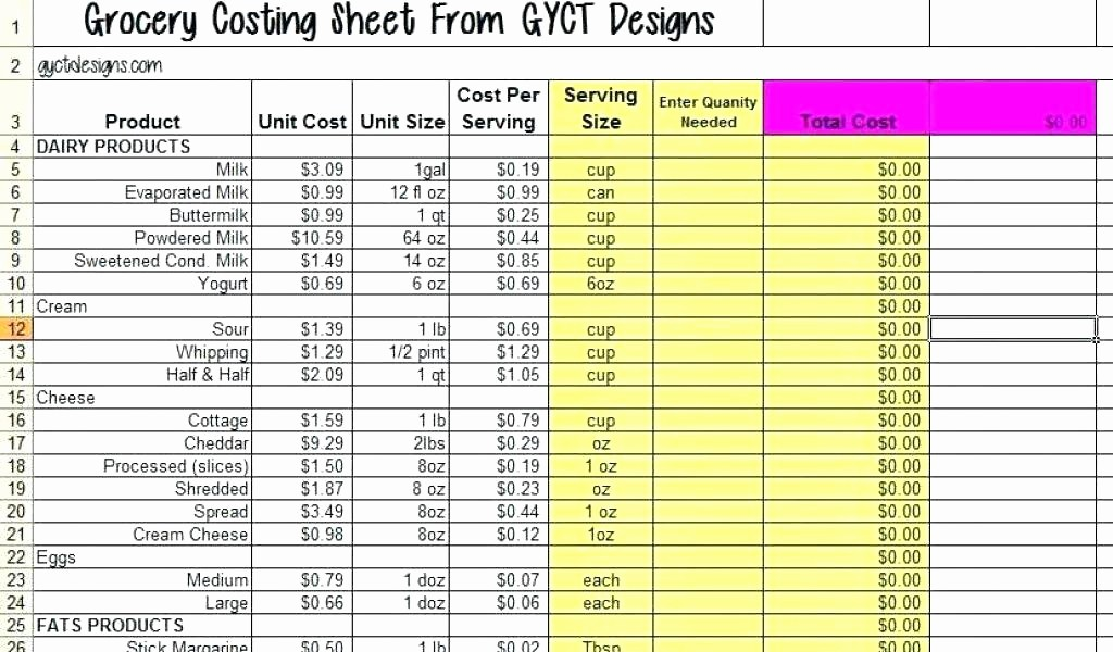 Excel Costing Template Free Download Elegant Costing Sheet Template Excel