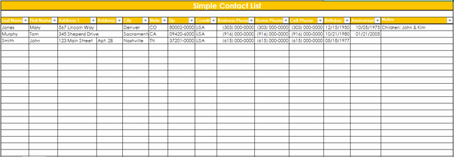Excel Customer Database Template Free Lovely 9 Customer Contact List Templates In Word and Excel