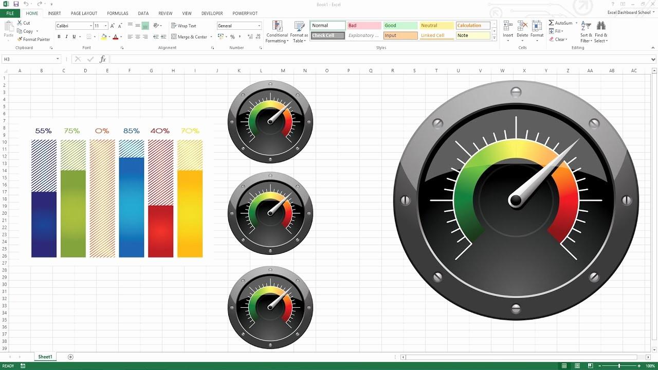 Excel Dashboard Gauges Free Download Fresh Creating Kpi Dashboard with Gauges Excel Dashboard