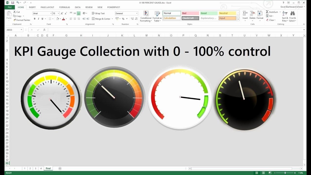 Excel Dashboard Gauges Free Download Inspirational Free Excel Kpi Gauge Dashboard Templates Excel Dashboard