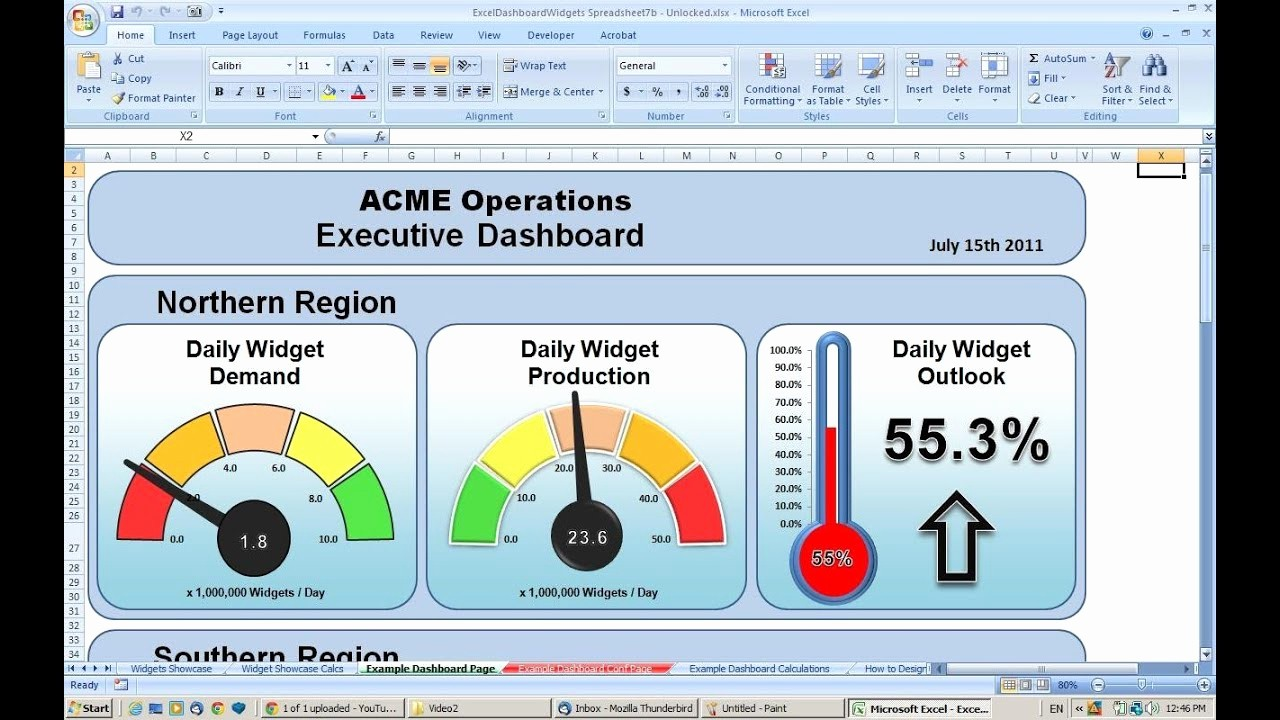 Excel Dashboard Gauges Free Download New Making An Excel Dashboard Tutorial 1 Copying Wid S