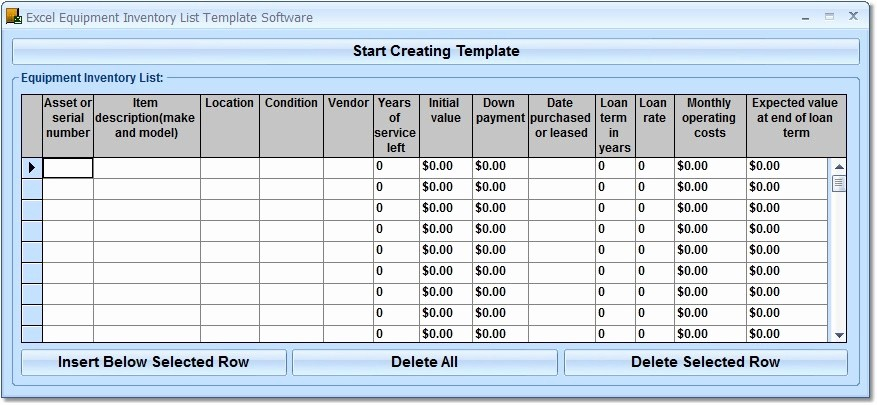 Excel Equipment Inventory List Template Awesome Excel Equipment Inventory List Template software Download