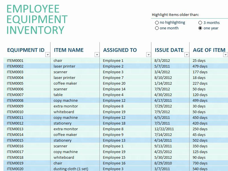 Excel Equipment Inventory List Template Best Of Excel Equipment Inventory List Template software 7 0