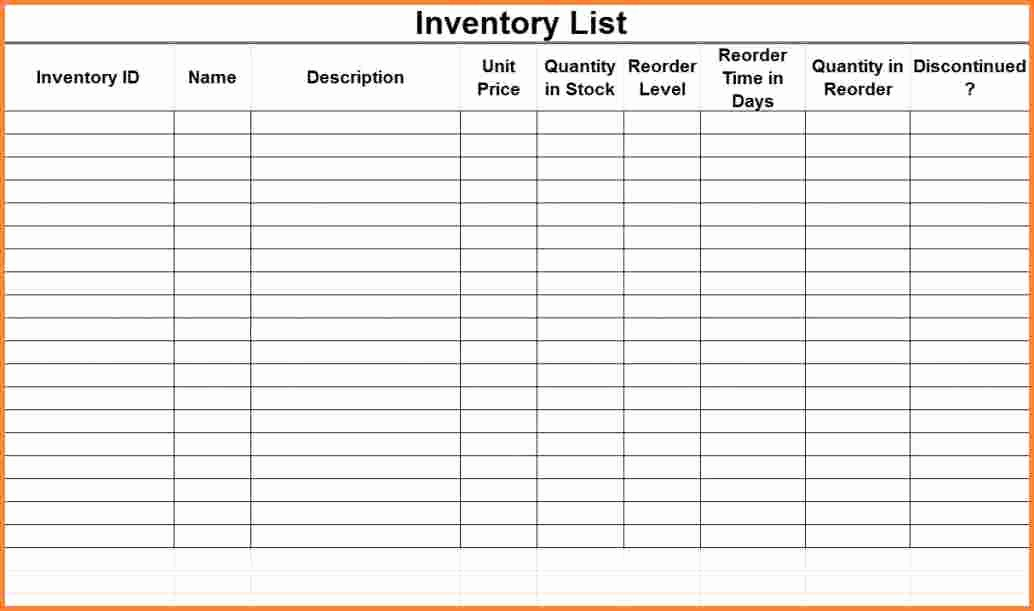Excel Equipment Inventory List Template Lovely 8 Inventory List Spreadsheet