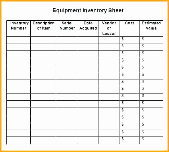 Excel Equipment Inventory List Template Luxury Excel Equipment Inventory Fice List Template Employee