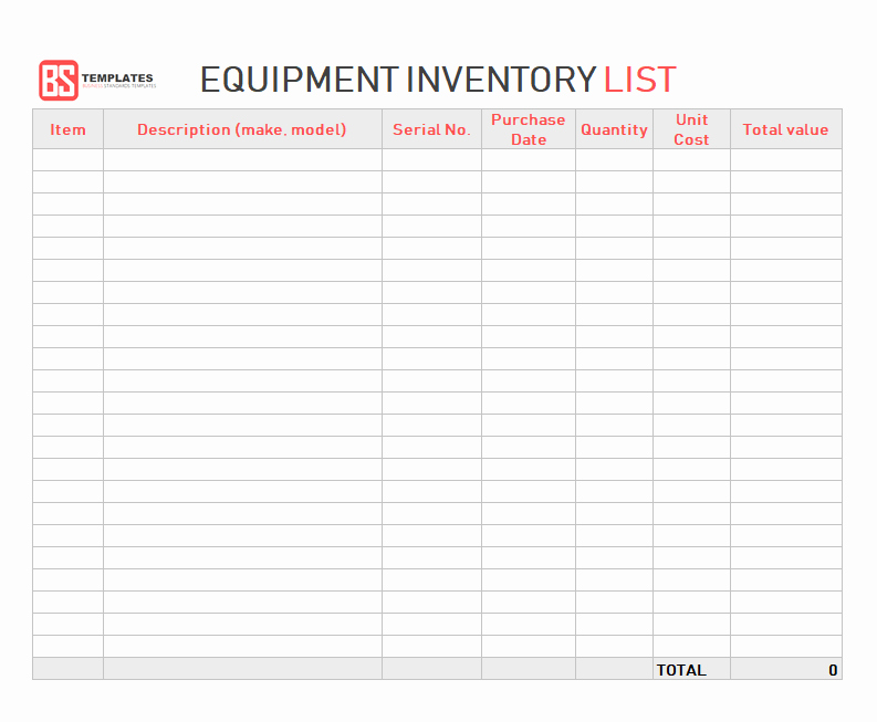 Excel Equipment Inventory List Template Luxury Excel Inventory Template – Free Sample Example format In