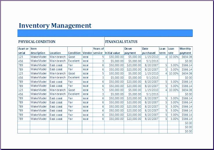 Excel Equipment Inventory List Template Unique 9 Employee Equipment Inventory Sheet Exceltemplates