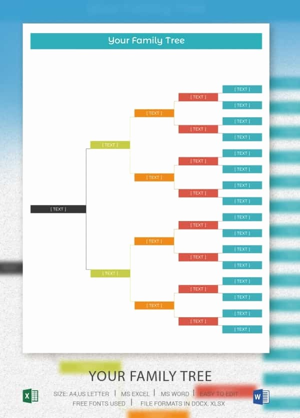 Excel Family Tree Template Free Beautiful Simple Family Tree Template 25 Free Word Excel Pdf