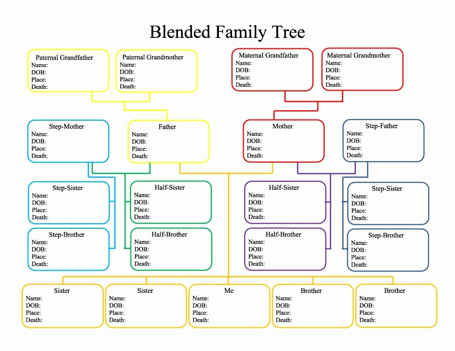 Excel Family Tree Template Free Elegant 50 Free Family Tree Templates Word Excel Pdf