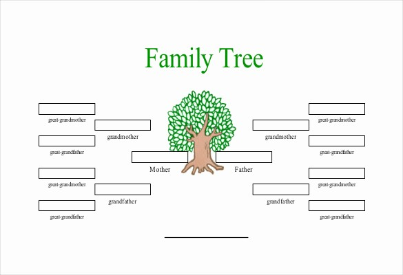 Excel Family Tree Template Free Elegant Simple Family Tree Template 25 Free Word Excel Pdf