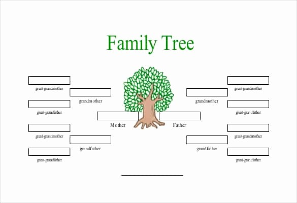 Excel Family Tree Template Free Fresh Simple Family Tree Template 27 Free Word Excel Pdf