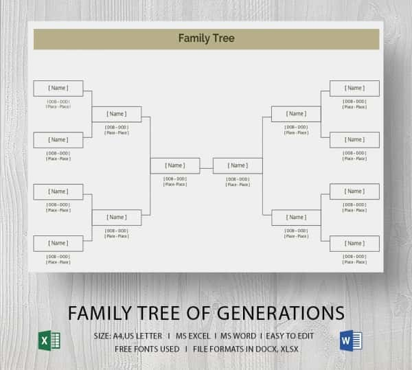 Excel Family Tree Template Free Inspirational Simple Family Tree Template 25 Free Word Excel Pdf