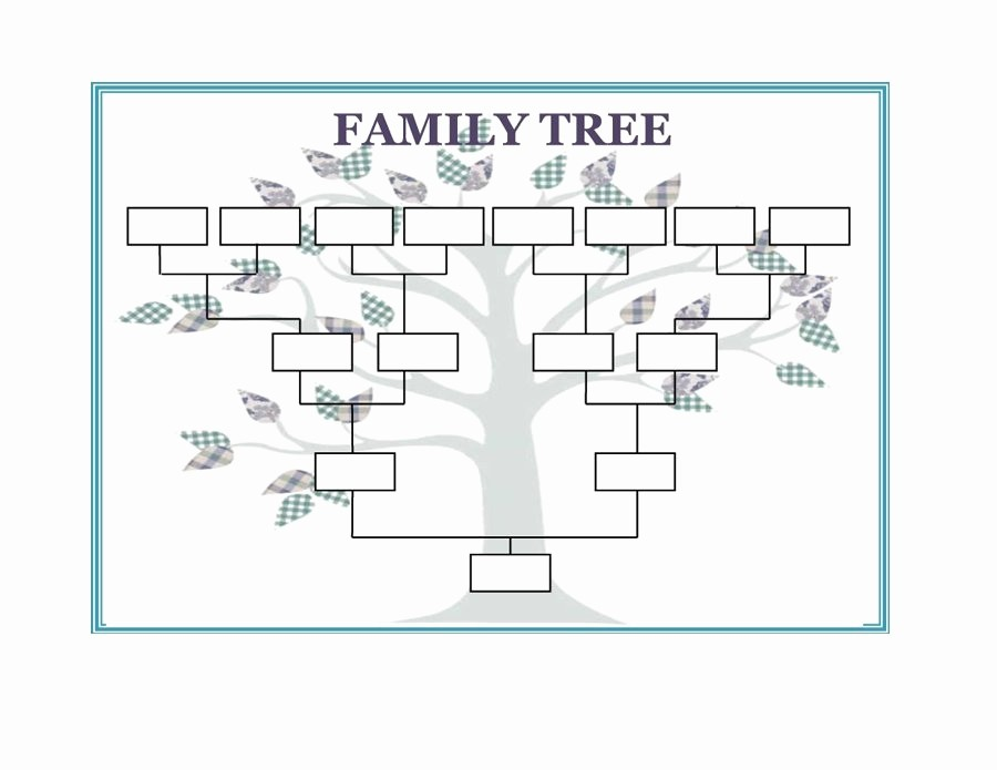 Excel Family Tree Template Free Unique Family Tree Template Word