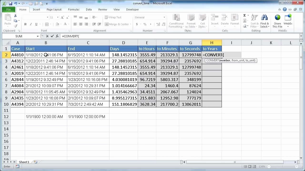 Excel formula for Payroll Hours Awesome Convert Time In Excel Days to Hours Hours to Minutes