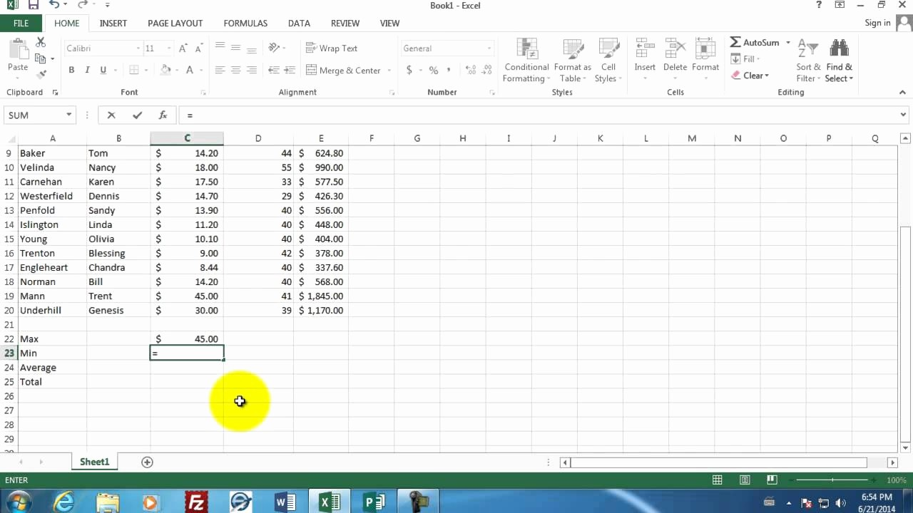Excel formula for Payroll Hours Best Of Microsoft Excel 01 Payroll Part 1 How to Enter Data and