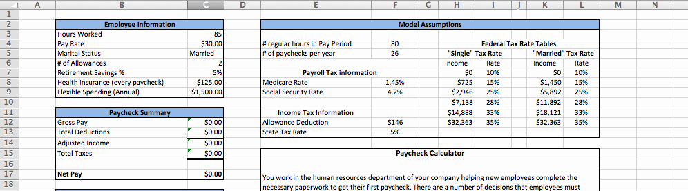 Excel formula for Payroll Hours Best Of solved Enter the Hours Worked and Pay Rate for the Employ
