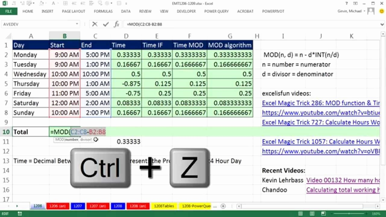 Excel formula for Payroll Hours Fresh formula to Calculate total Hours In Excel Display Times
