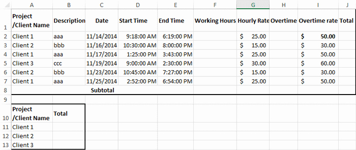 Excel formula for Payroll Hours Inspirational How to Create Billable Hours Template In Excel