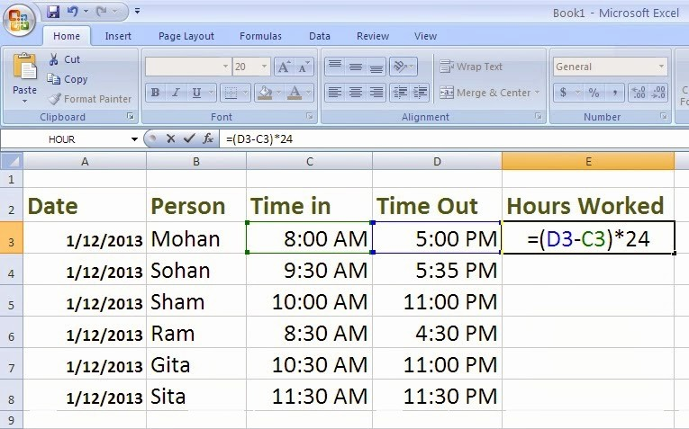 Excel formula for Payroll Hours Lovely Accounting formulas In Excel 2007 Pdf Sample Balance