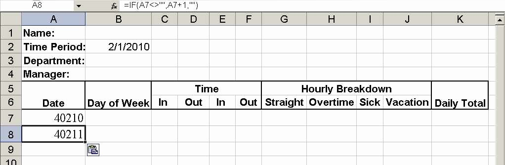 Excel formula for Payroll Hours Lovely Build A Simple Timesheet In Excel Techrepublic
