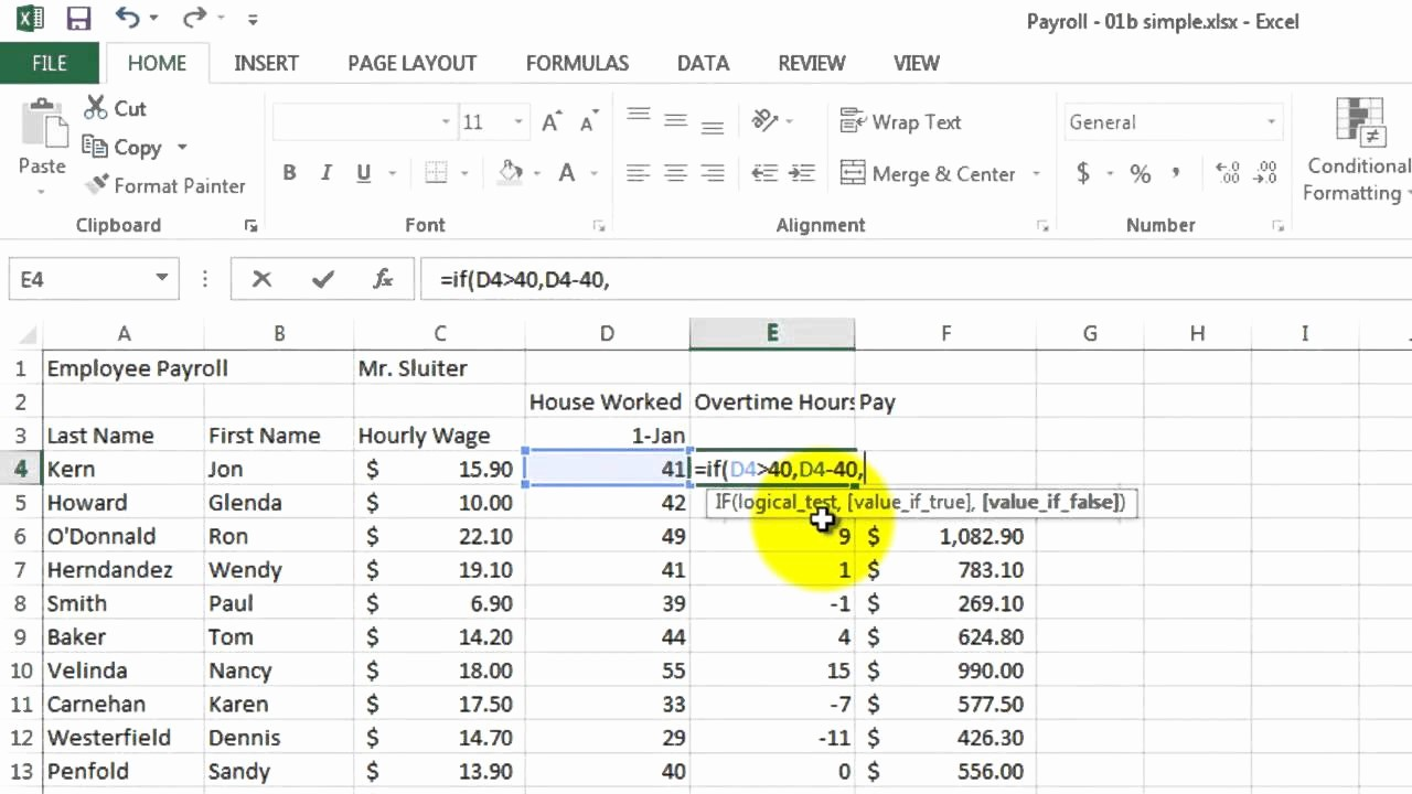 Excel formula for Payroll Hours Lovely How to Calculate Wages In Excel Payroll Calculator