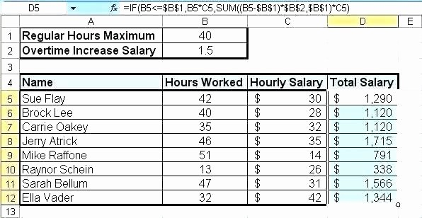 Excel formula for Payroll Hours Luxury Payroll Calculator Excel – Konservasyonub