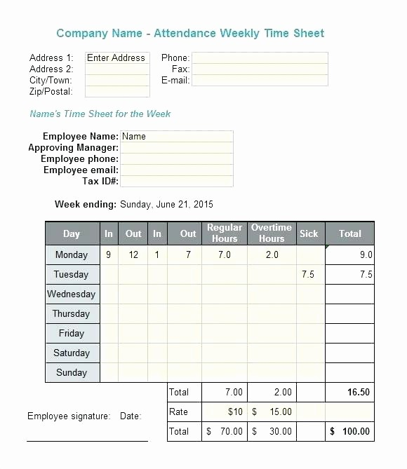 Excel formula for Time Card Beautiful Timecard In Excel with formulas Excel Weekly Excel formula