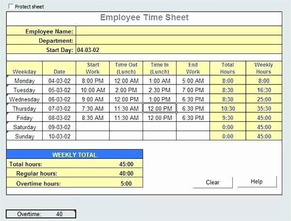Excel formula for Time Card Elegant Excel Time Card Calculator – Liconlineub