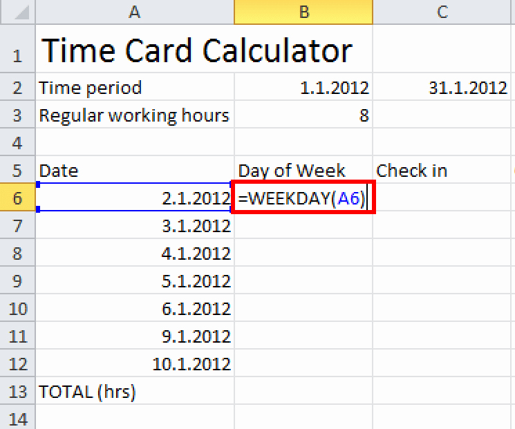Excel formula for Time Card Elegant How to Convert Date Into Week Days In Excel Microsoft