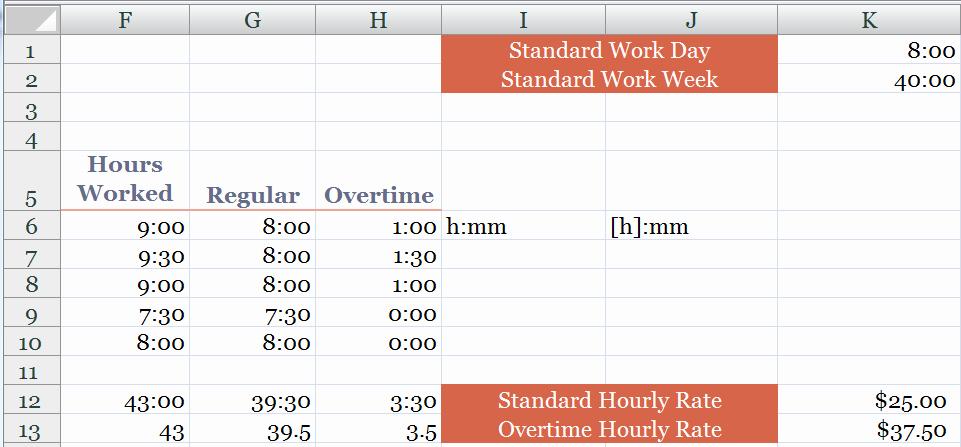 Excel formula for Time Card Lovely Excel formula Time How Excel formula for Converting Time