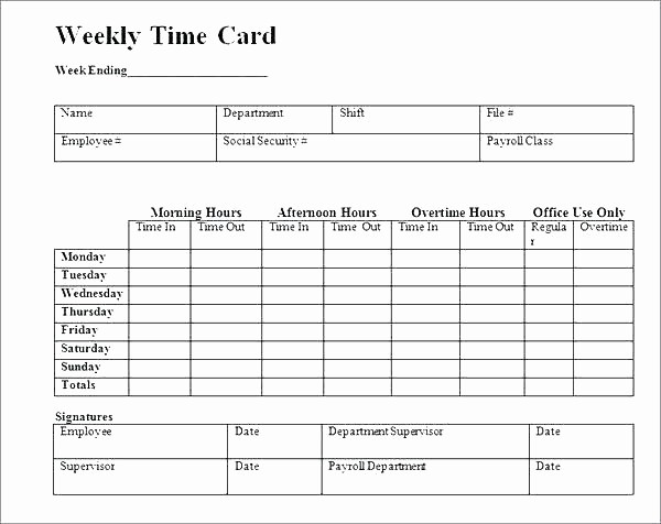 Excel formula for Time Card Unique Excel Time Card Template Excel Time Sheet Template Time