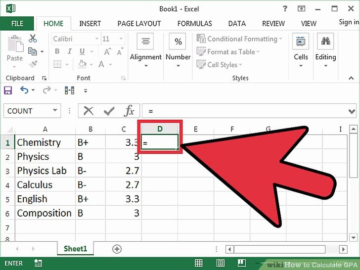 Excel formula to Calculate Gpa Beautiful 4 Ways to Calculate Gpa Wikihow