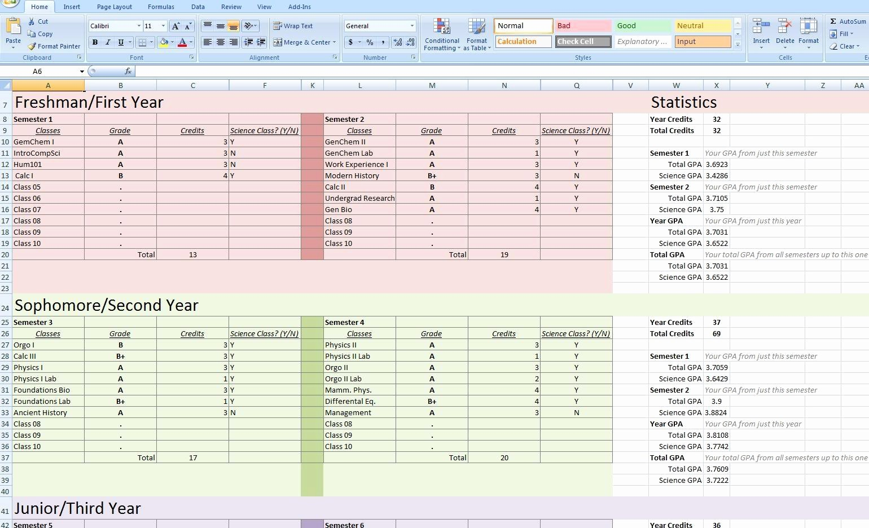 Excel formula to Calculate Gpa New Gpa Calculator