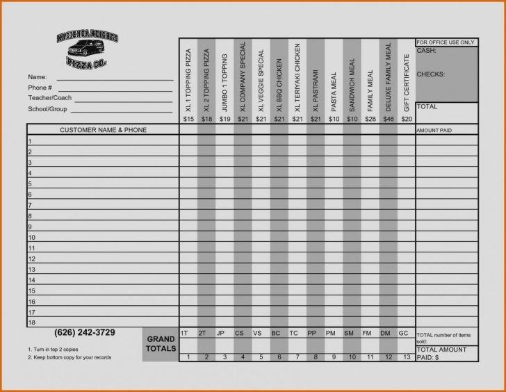 Excel Fundraiser order form Template Elegant Fundraiser order form Template Excel C B0c50